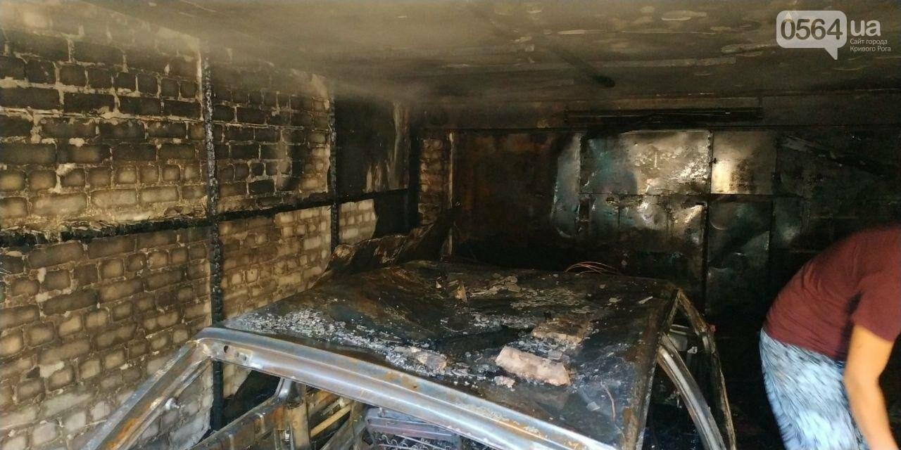 Утром в Кривом Роге сгорела машина, припаркованная в гараже, - ФОТО , фото-1