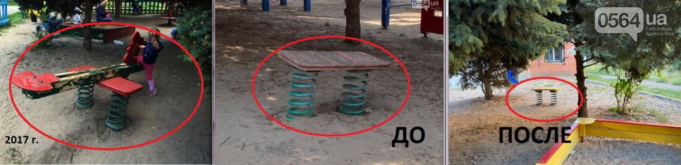 """""""Меценатскую арку обновили, а песок детям не завезли"""": в Кривом Роге за бюджетные средства отремонтировали площадку, - ФОТО , фото-2"""