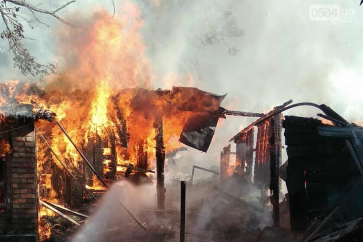 В частном домовладении Кривого Рога огонь уничтожил хозяйственные постройки, - ФОТО, фото-1