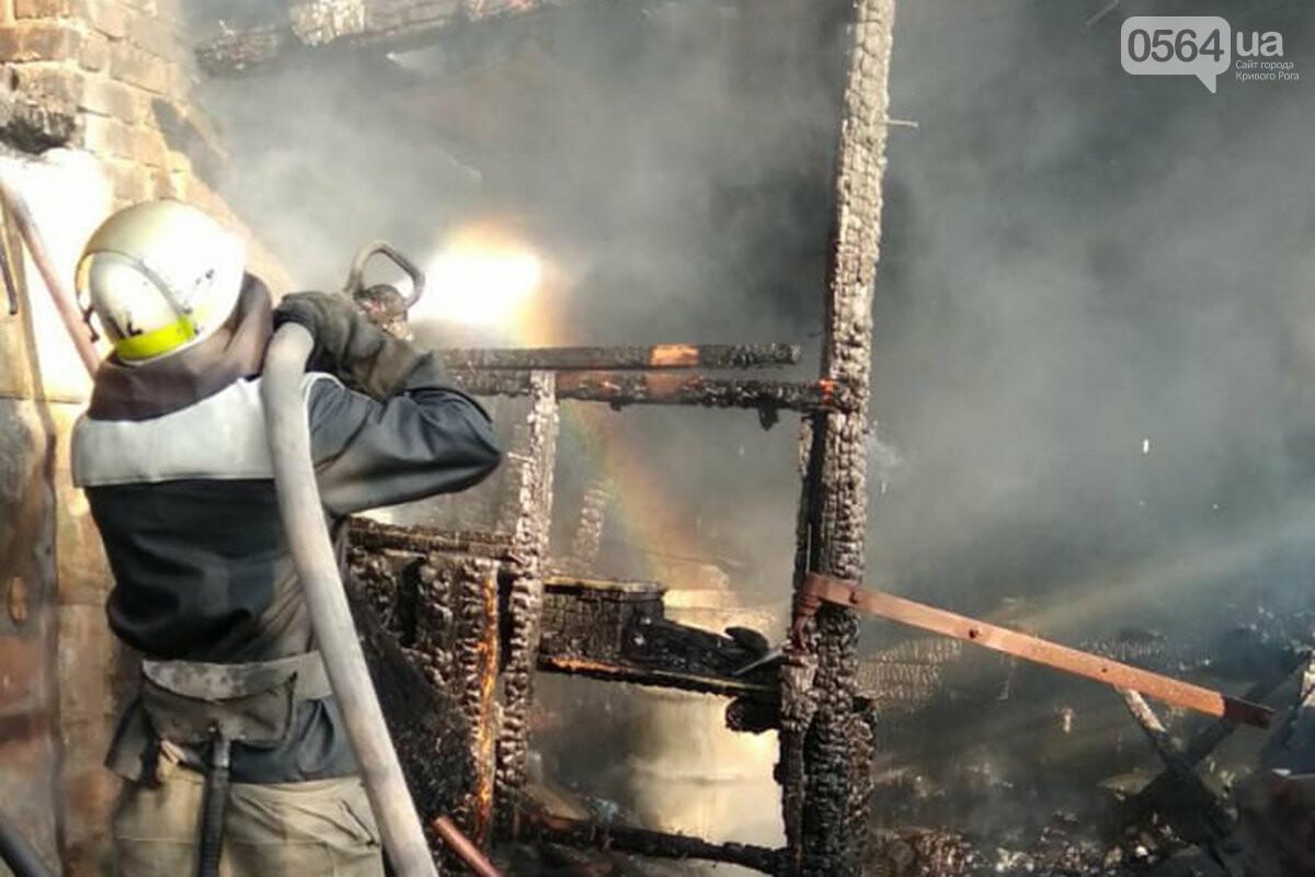 В частном домовладении Кривого Рога огонь уничтожил хозяйственные постройки, - ФОТО, фото-2