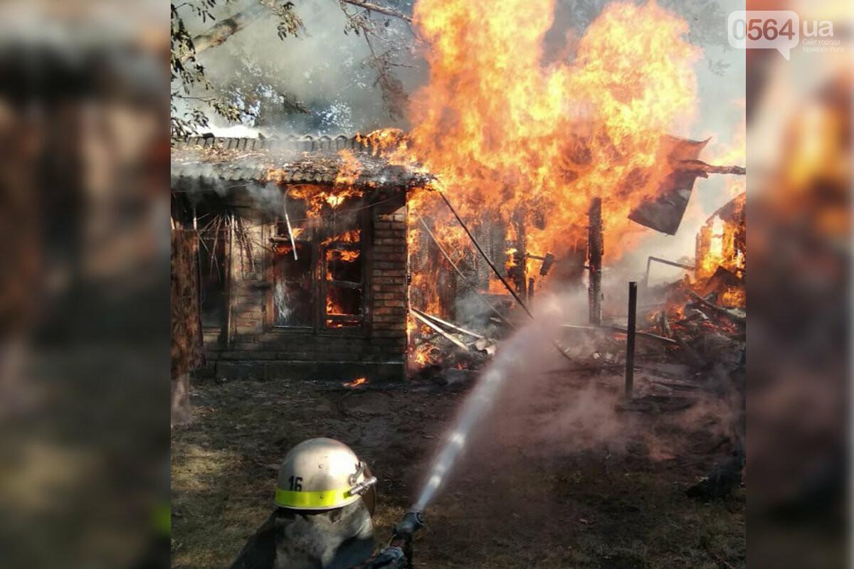 В частном домовладении Кривого Рога огонь уничтожил хозяйственные постройки, - ФОТО, фото-5