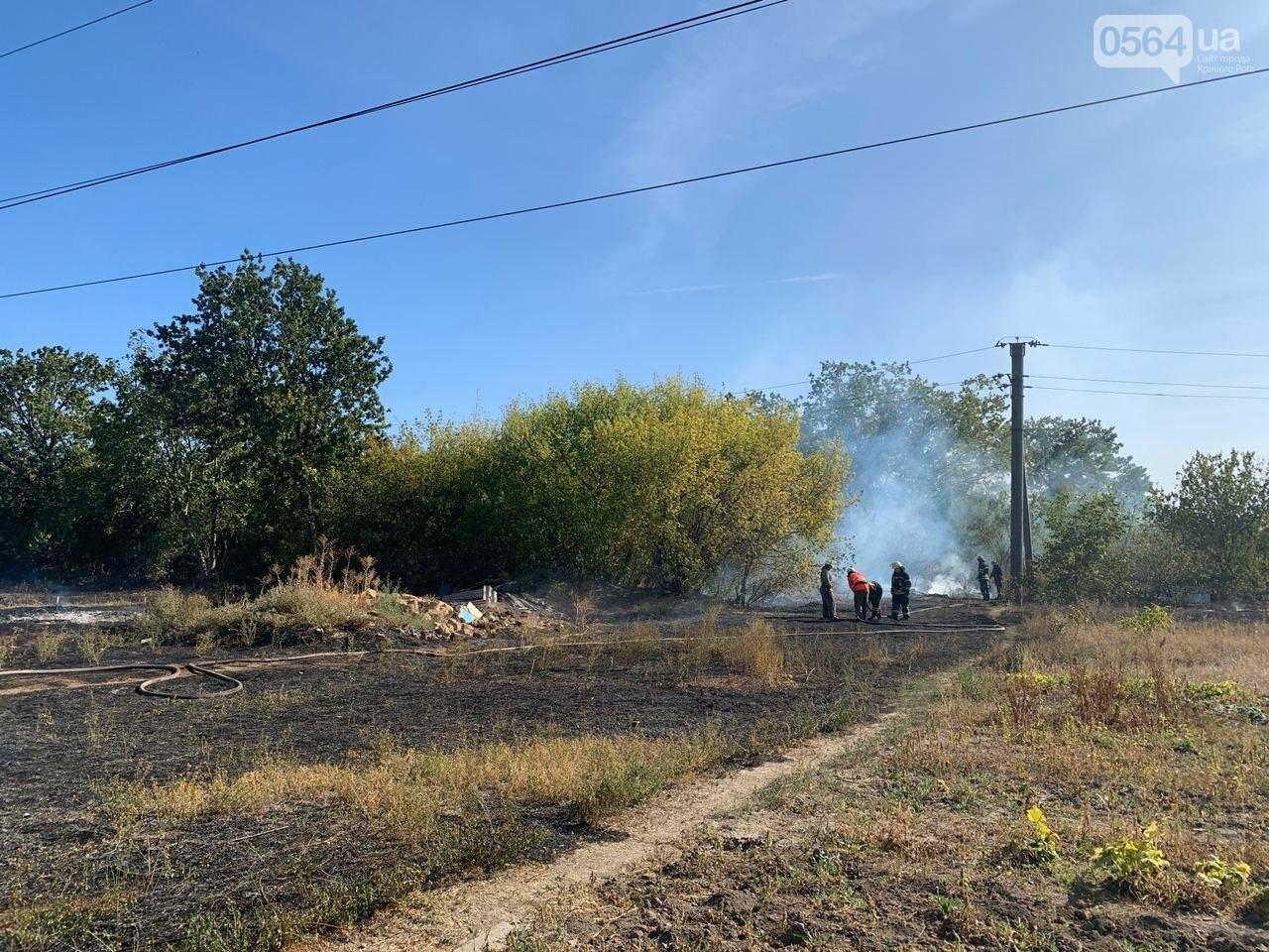 В Кривом Роге возле частного сектора произошел пожар в экосистеме, - ФОТО , фото-9