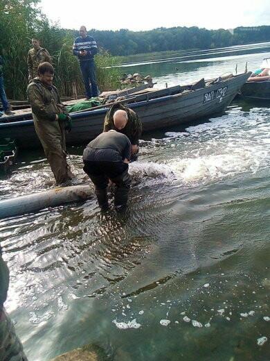 В Криворожском районе выпустили 1800 килограммов рыбы в Карачуновское водохранилище, - ФОТО , фото-1