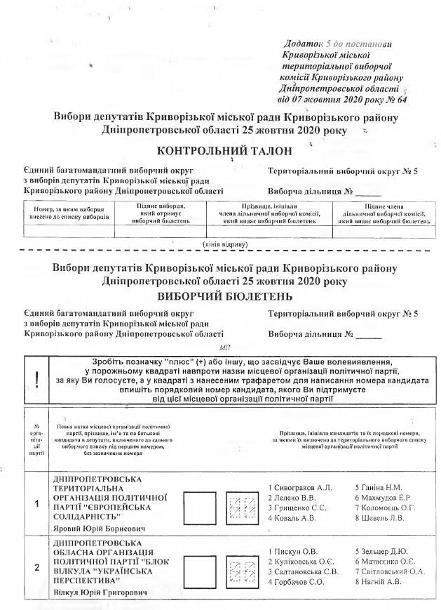Криворожская ГИК утвердила тексты избирательных бюллетеней, - БЮЛЛЕТЕНИ, фото-11
