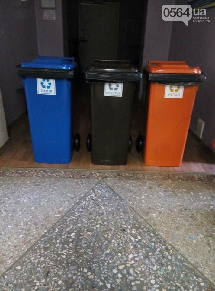 В 171 учебном учреждении Кривого Рога установили баки для раздельного сбора мусора, фото-1
