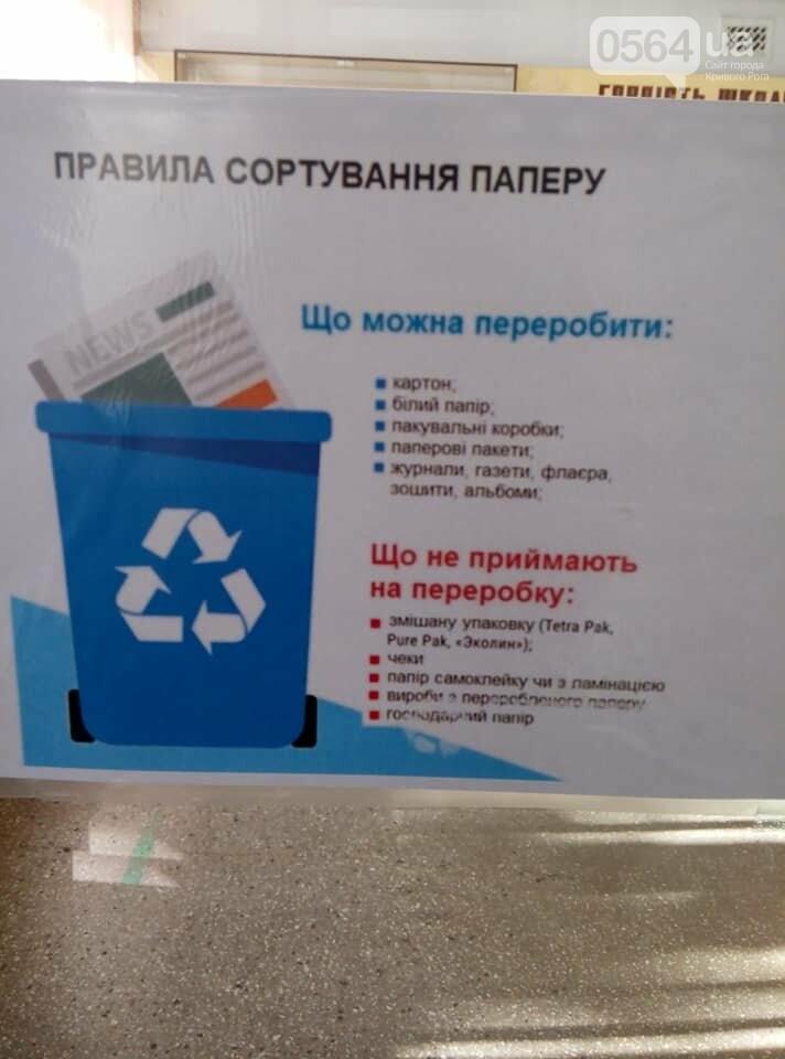 В 171 учебном учреждении Кривого Рога установили баки для раздельного сбора мусора, фото-6