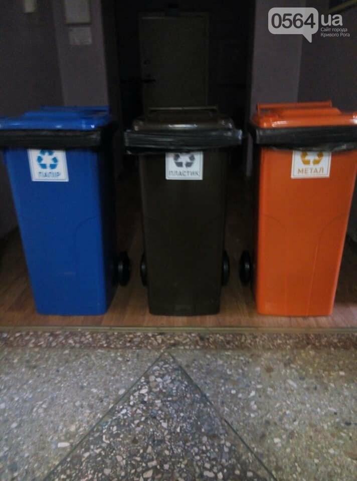 В 171 учебном учреждении Кривого Рога установили баки для раздельного сбора мусора, фото-5