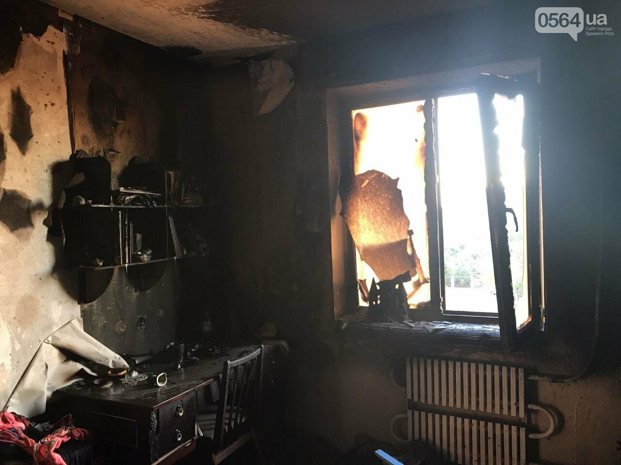 В Кривом Роге загорелась квартира, в которой никого не было, - ФОТО , фото-1