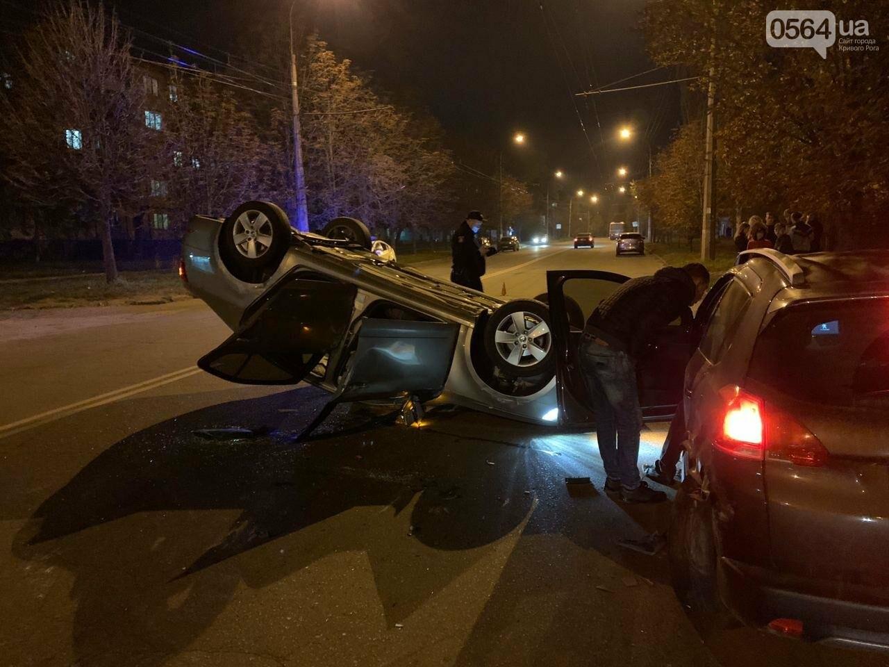 """В Кривом Роге """"Skoda"""" влетела в припаркованный автомобиль """"Peugeot"""" и перевернулась на крышу, - ФОТО, ИСПРАВЛЕНО, фото-7"""