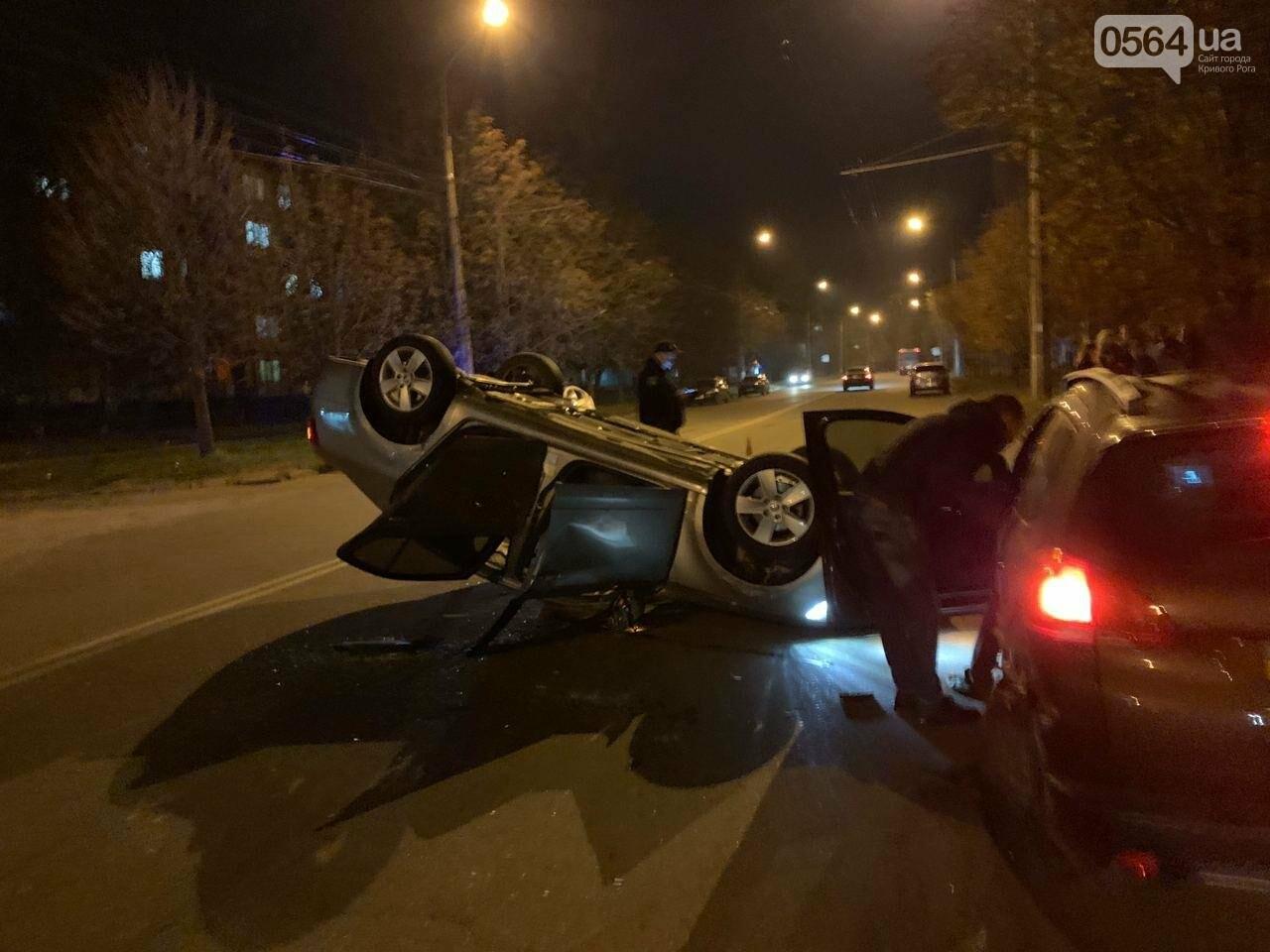 """В Кривом Роге """"Skoda"""" влетела в припаркованный автомобиль """"Peugeot"""" и перевернулась на крышу, - ФОТО, ИСПРАВЛЕНО, фото-6"""