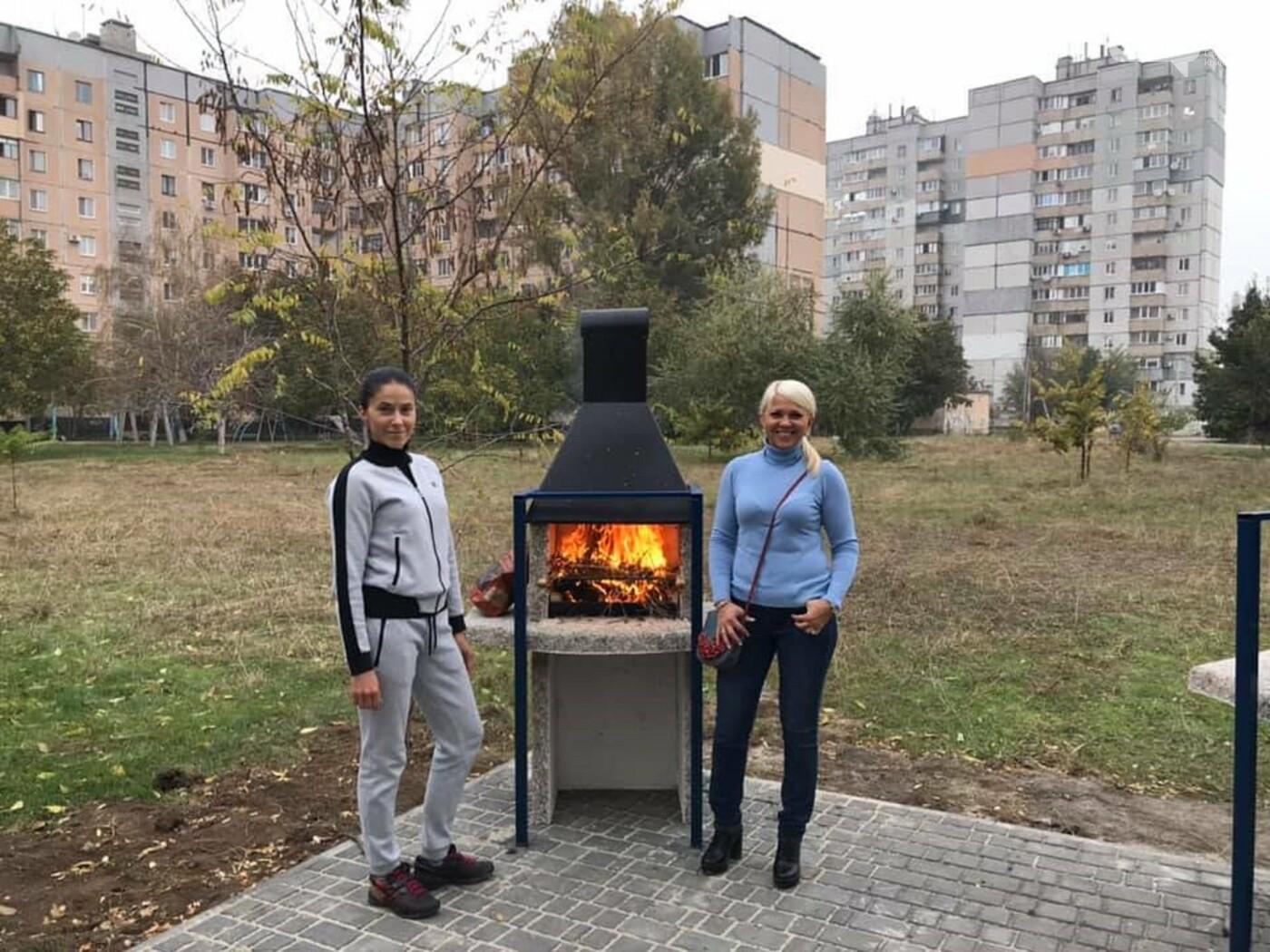 При поддержке «Зеленого центра Метинвест» в Долгинцевском районе Кривого Рога жители обустроили парк для пикников, фото-1