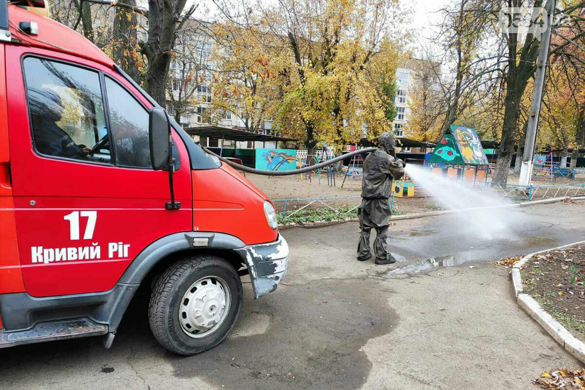 В Кривом Роге чрезвычайники продезинфицировали остановки и места скопления людей, - ФОТО, ВИДЕО , фото-1
