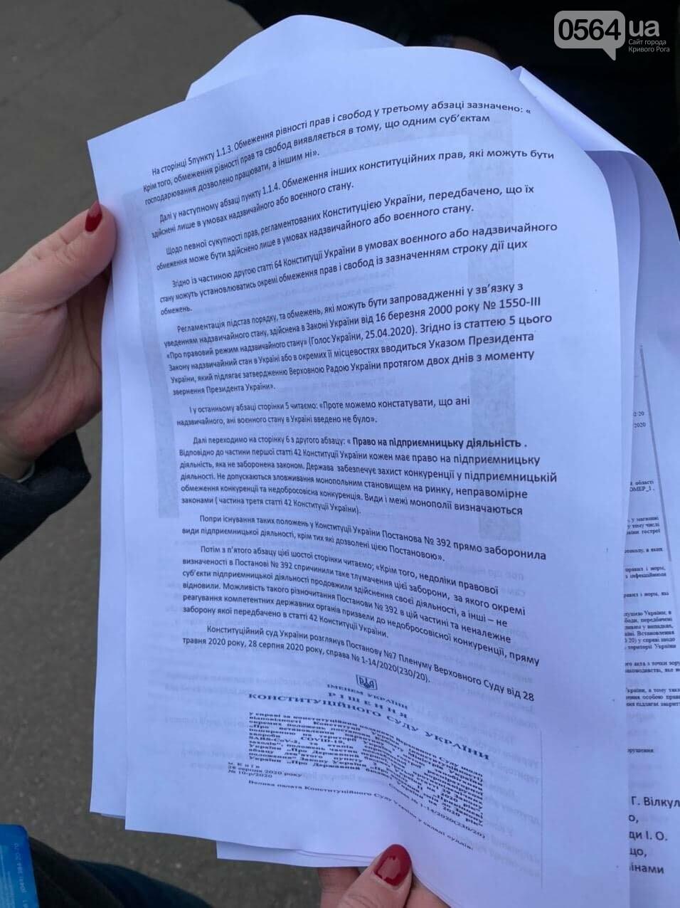 Представители малого бизнеса продолжили протест возле мэрии Кривого Рога, - ФОТО, ВИДЕО, фото-9