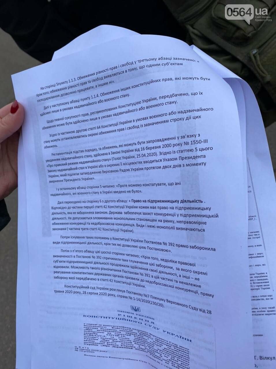 Представители малого бизнеса продолжили протест возле мэрии Кривого Рога, - ФОТО, ВИДЕО, фото-8