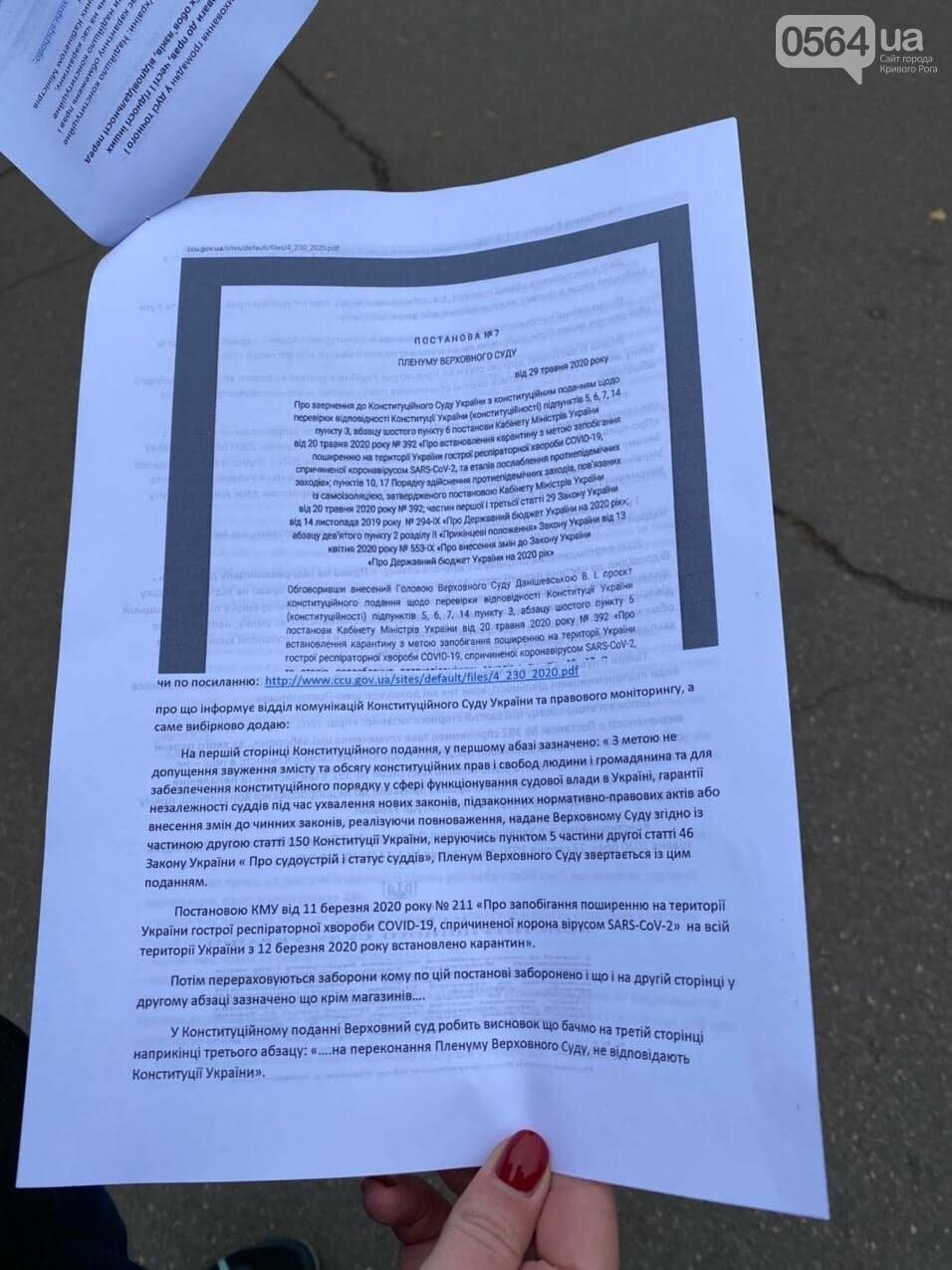 Представители малого бизнеса продолжили протест возле мэрии Кривого Рога, - ФОТО, ВИДЕО, фото-4