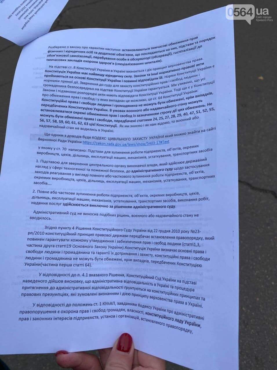 Представители малого бизнеса продолжили протест возле мэрии Кривого Рога, - ФОТО, ВИДЕО, фото-3