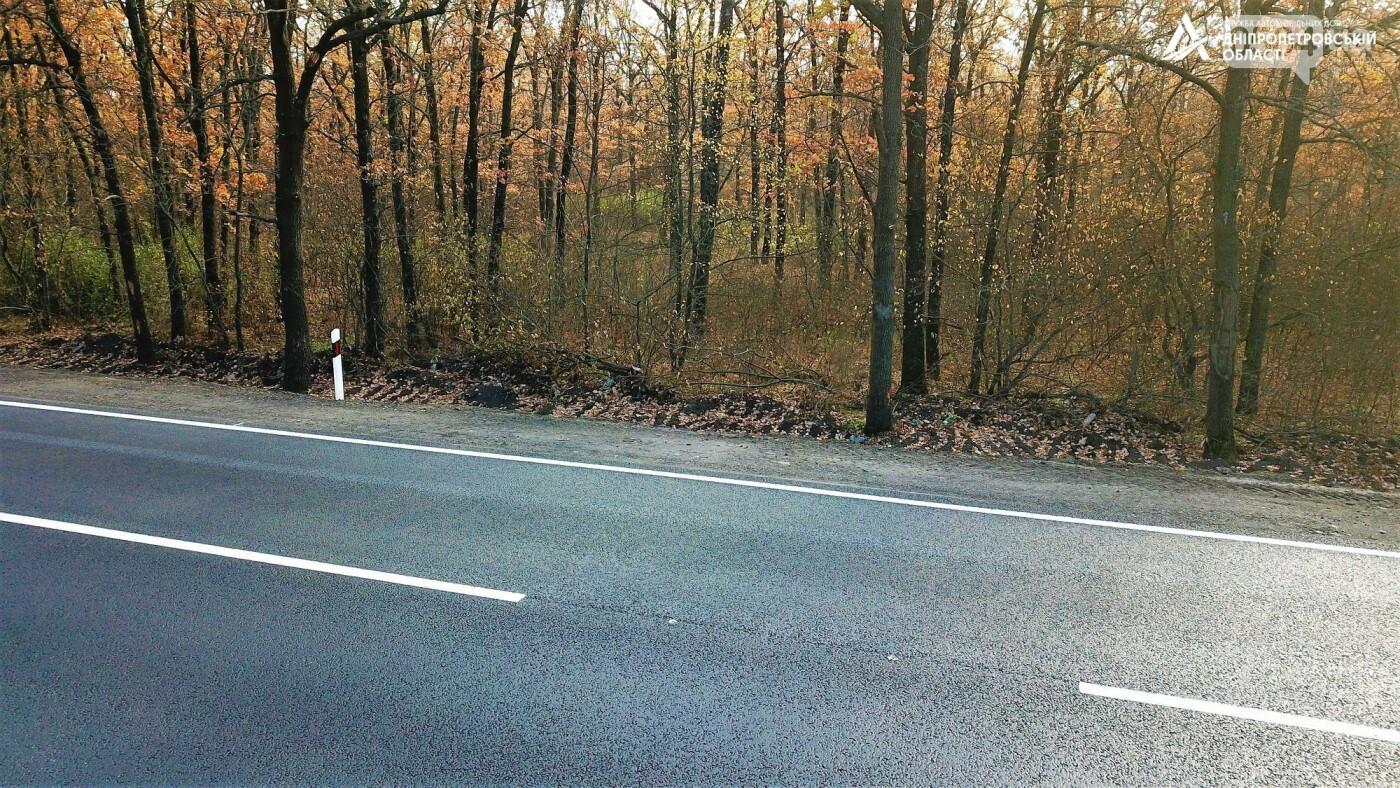 Завершается ремонт трассы Кривой Рог - Николаев  - дорожники наносят разметку и устанавливают знаки, - ФОТО , фото-14