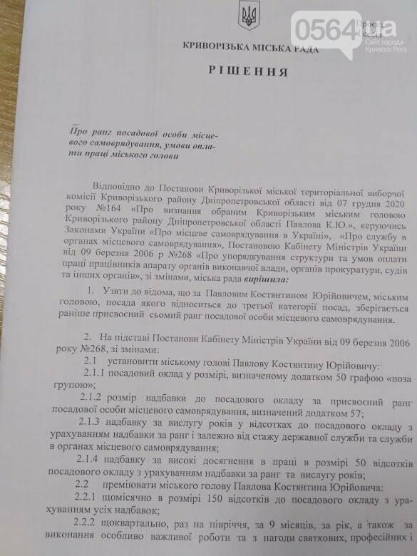 Депутаты проголосовали за назначение оклада и надбавок новому мэру Кривого Рога, - ФОТО , фото-1