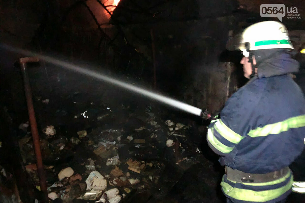 В Кривом Роге сгорела хозпостройка с инвентарем, - ФОТО , фото-2