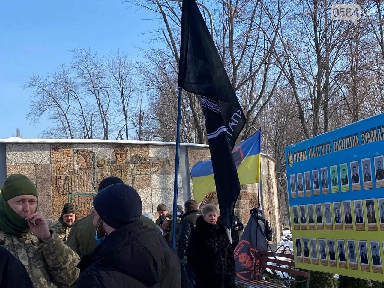 В 6 годовщину Дебальцевской трагедии криворожане почтили память погибших Героев, - ФОТО, ВИДЕО , фото-10