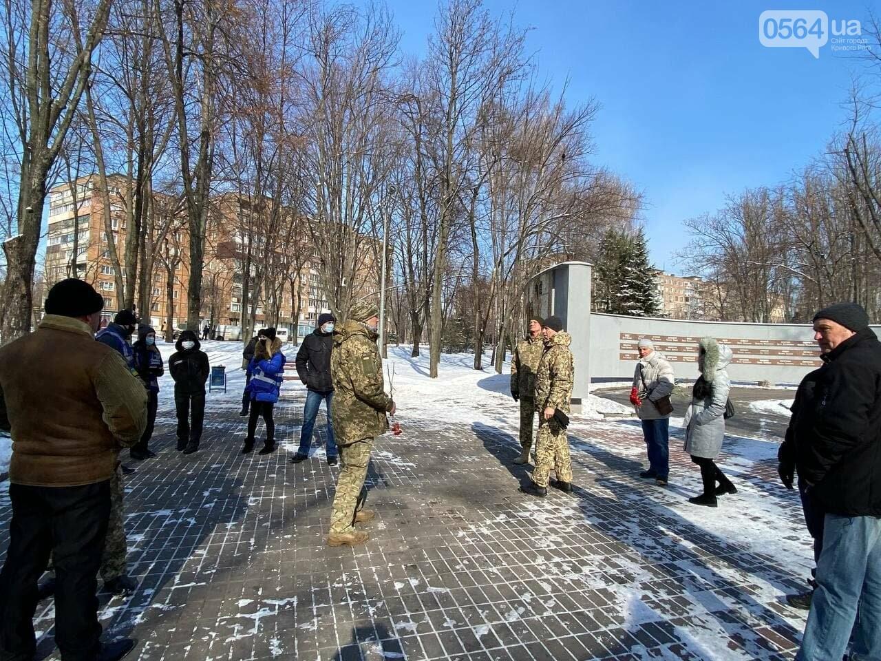 В 6 годовщину Дебальцевской трагедии криворожане почтили память погибших Героев, - ФОТО, ВИДЕО , фото-8