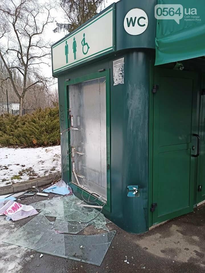 В Кривом Роге ночью орудовали вандалы: разбит туалет и скамейка, - ФОТО , фото-3