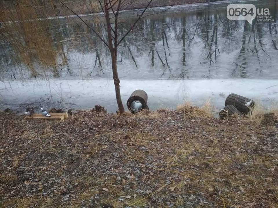 Выбросили 14 урн в реку, сожгли камыш, разобрали тротуарную плитку: в криворожском парке орудовали вандалы, - ФОТО , фото-14