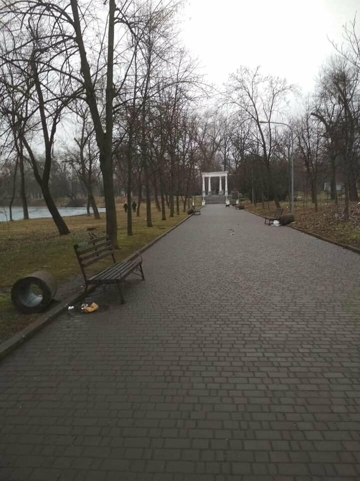 Выбросили 14 урн в реку, сожгли камыш, разобрали тротуарную плитку: в криворожском парке орудовали вандалы, - ФОТО , фото-10