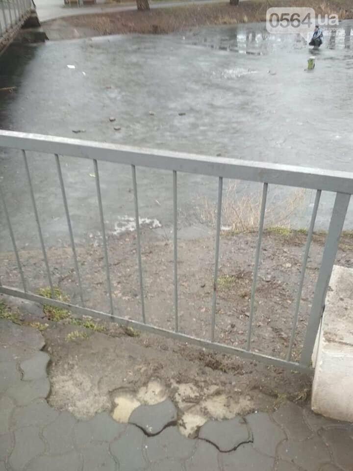 Выбросили 14 урн в реку, сожгли камыш, разобрали тротуарную плитку: в криворожском парке орудовали вандалы, - ФОТО , фото-12