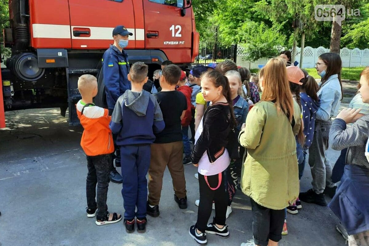 У криворожских спасателей с экскурсией побывали дети, - ФОТО, фото-3
