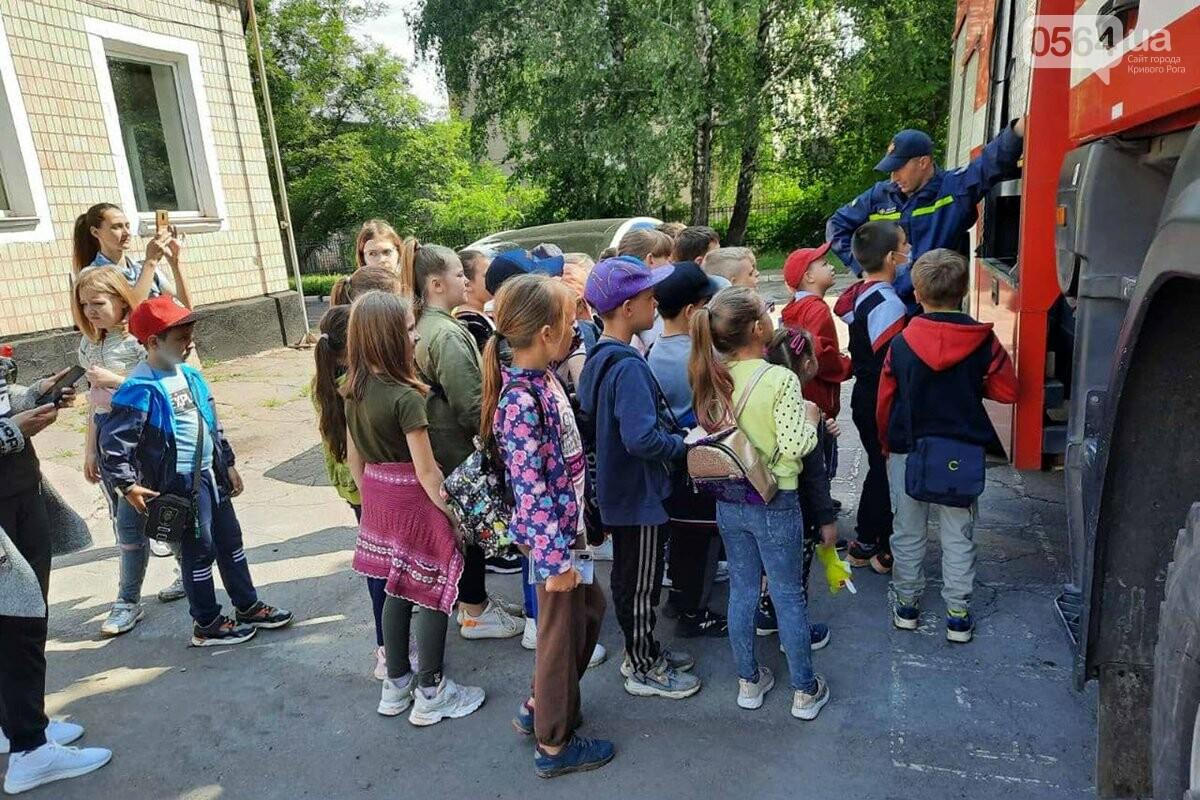У криворожских спасателей с экскурсией побывали дети, - ФОТО, фото-4