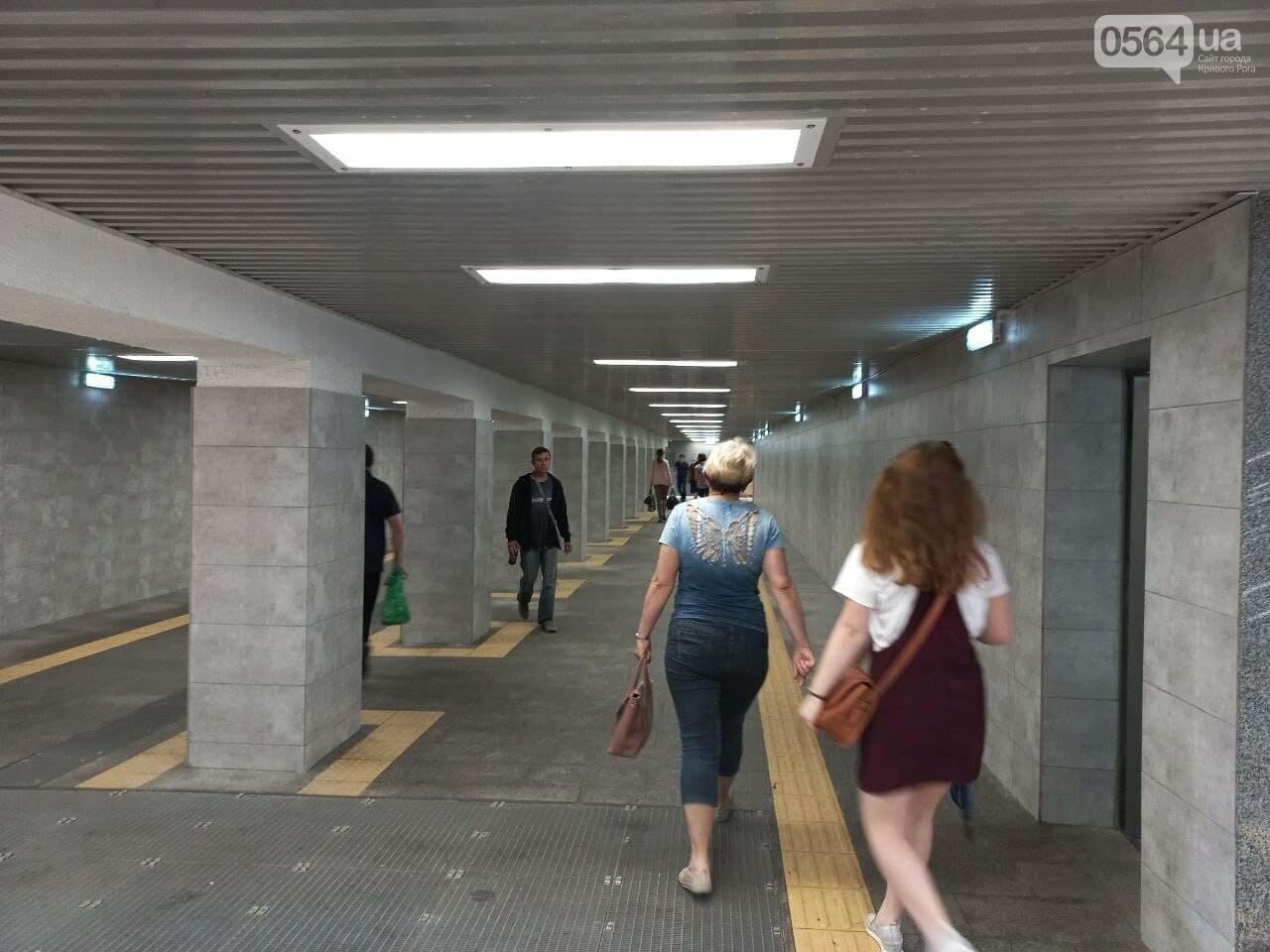 Возле Центрального рынка в Кривом Роге закрыли наземный переход и открыли подземный, - ФОТО, фото-12