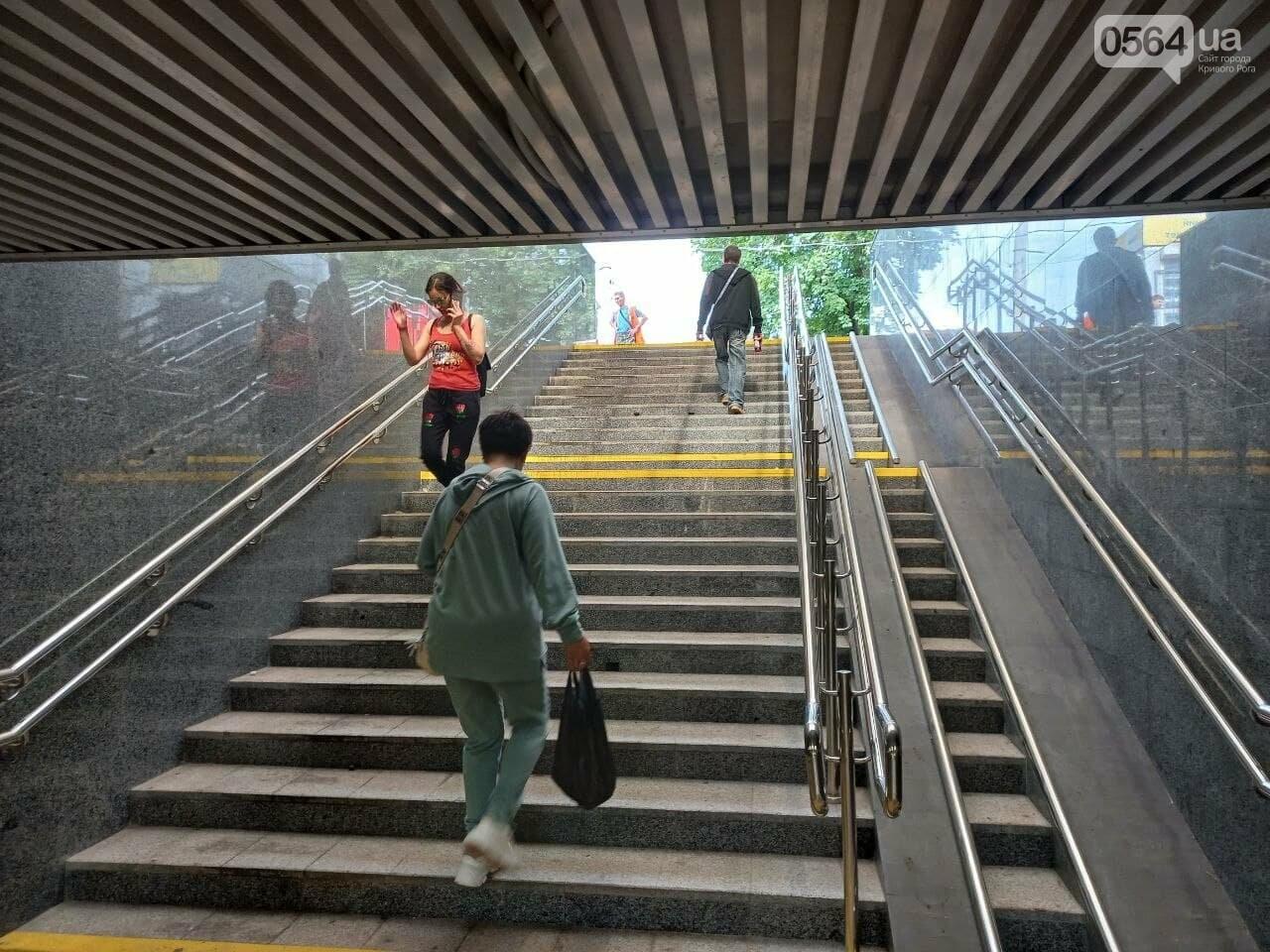 Возле Центрального рынка в Кривом Роге закрыли наземный переход и открыли подземный, - ФОТО, фото-14