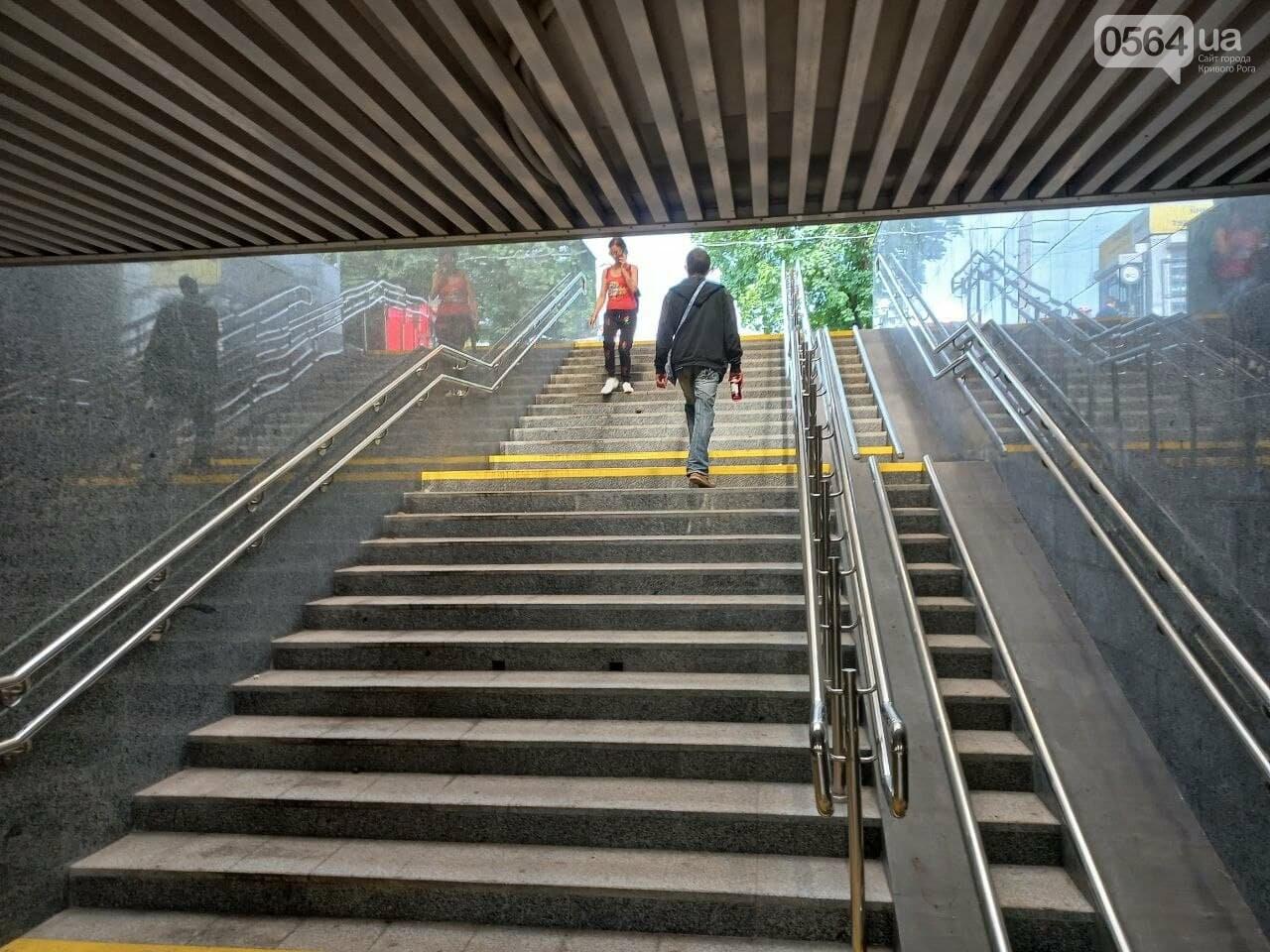 Возле Центрального рынка в Кривом Роге закрыли наземный переход и открыли подземный, - ФОТО, фото-19