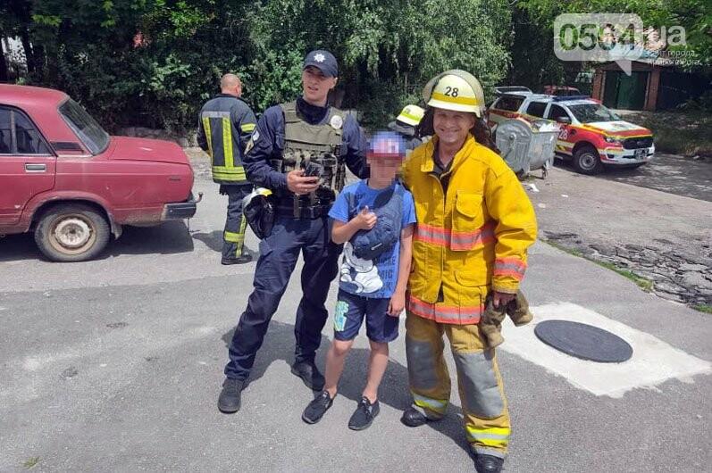 У мальчика на Днепропетровщине застряла нога на лестнице, на помощь пришли спасатели, - ФОТО, фото-3