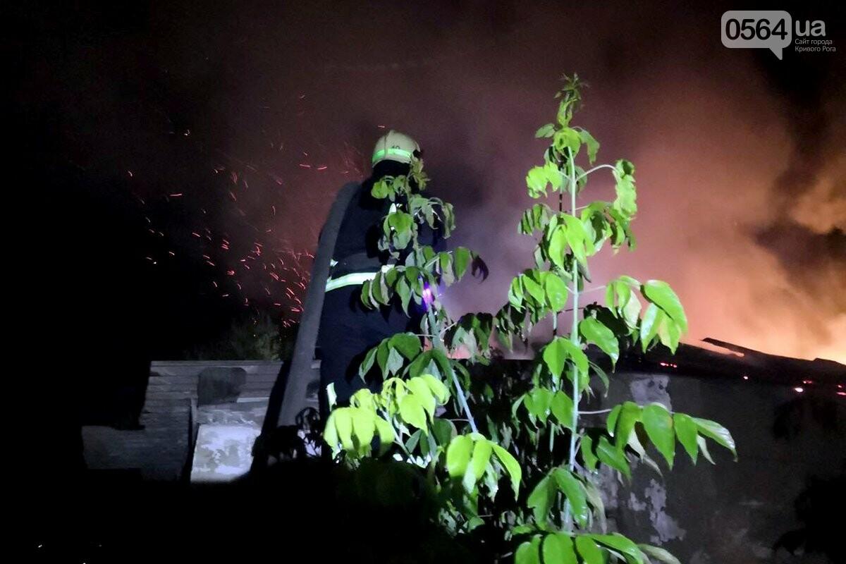 Ночью в Кривом Роге загорелось заброшенное здание, - ФОТО, фото-1