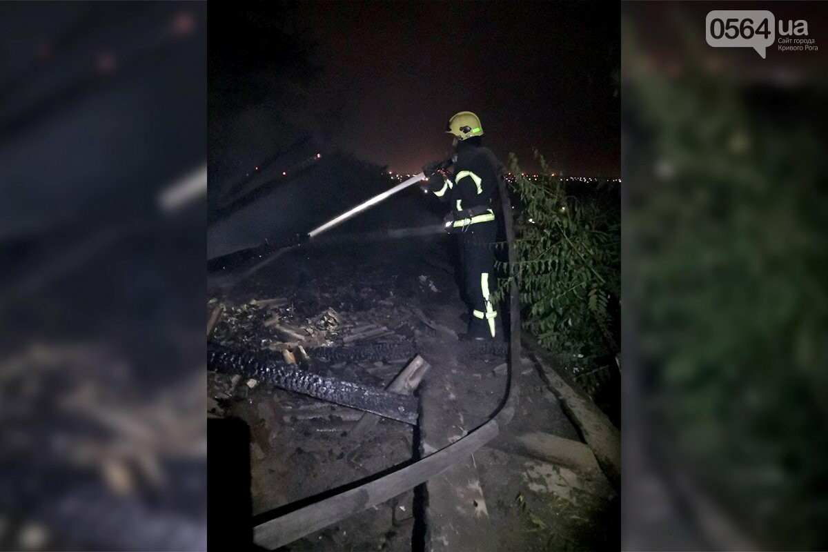 Ночью в Кривом Роге загорелось заброшенное здание, - ФОТО, фото-3