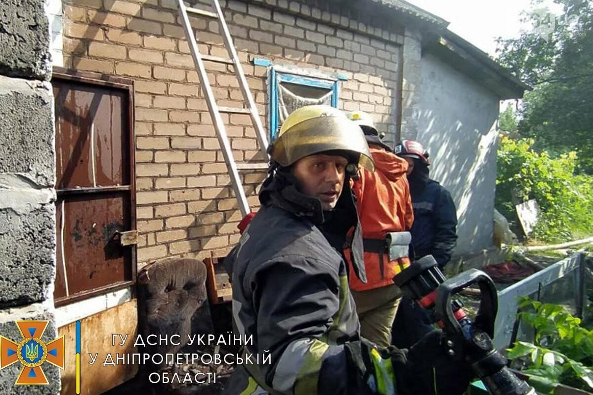 Во время пожара в Кривом Роге пострадала женщина, - ФОТО, фото-1