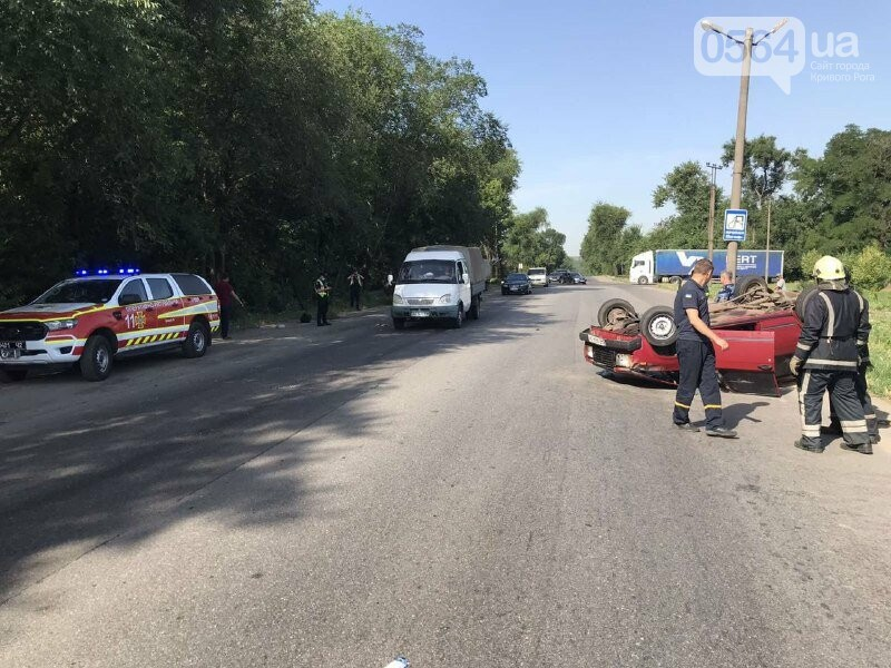 В Кривом Роге автомобиль перевернулся на крышу, - ФОТО, фото-4