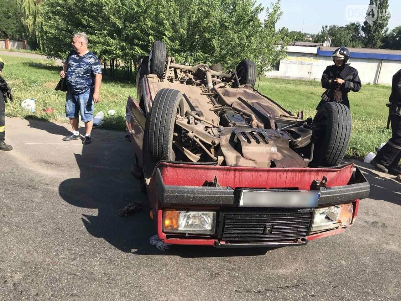 В Кривом Роге автомобиль перевернулся на крышу, - ФОТО, фото-6
