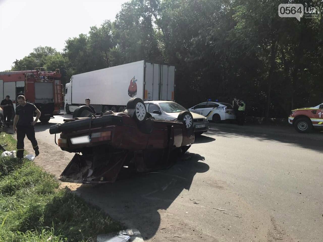 В Кривом Роге автомобиль перевернулся на крышу, - ФОТО, фото-5