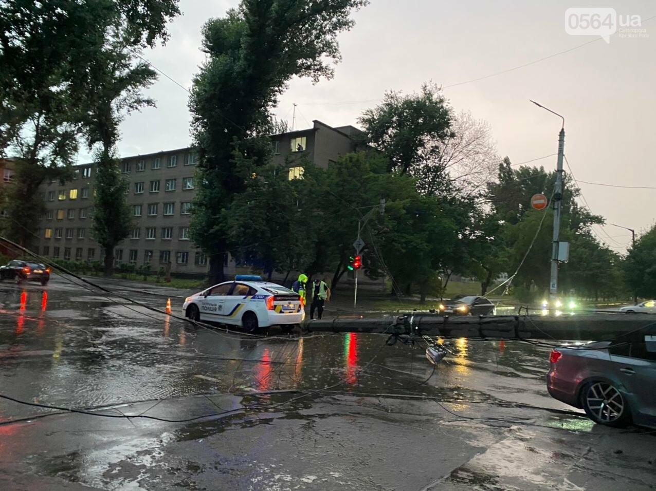 Во время дождя в Кривом Роге Volkswagen снес столб, - ФОТО, фото-10
