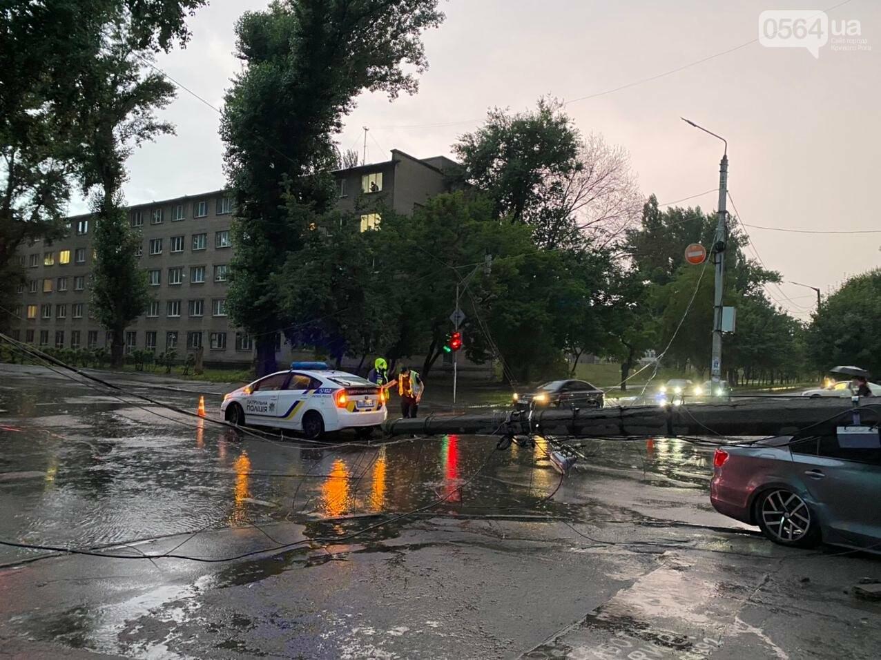 Во время дождя в Кривом Роге Volkswagen снес столб, - ФОТО, фото-8