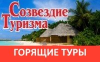 Логотип - Созвездие туризма. Горящие туры, шенгенские и рабочие визы, трудоустройство и образование за рубежом