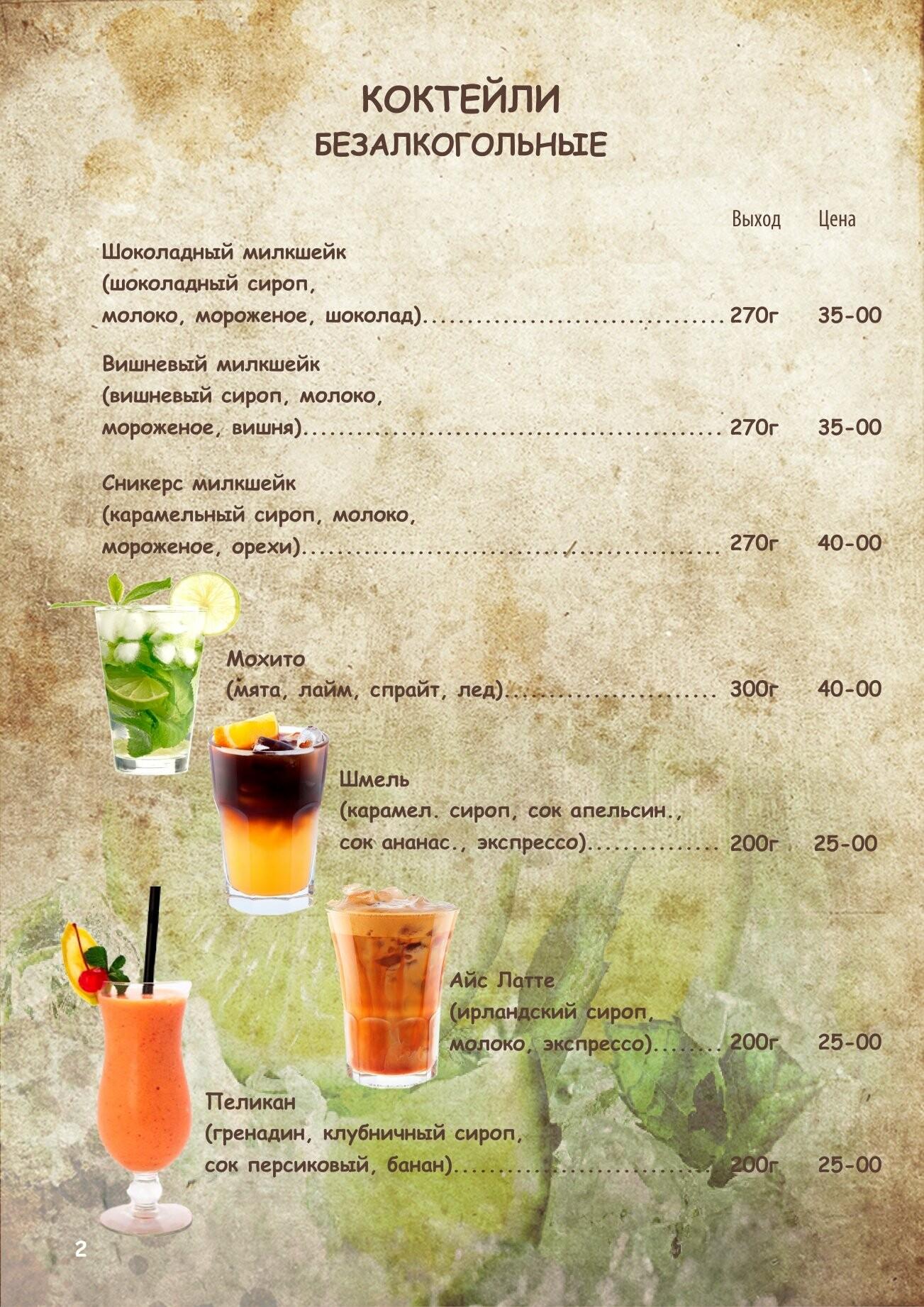Алкогольное меню, фото-1