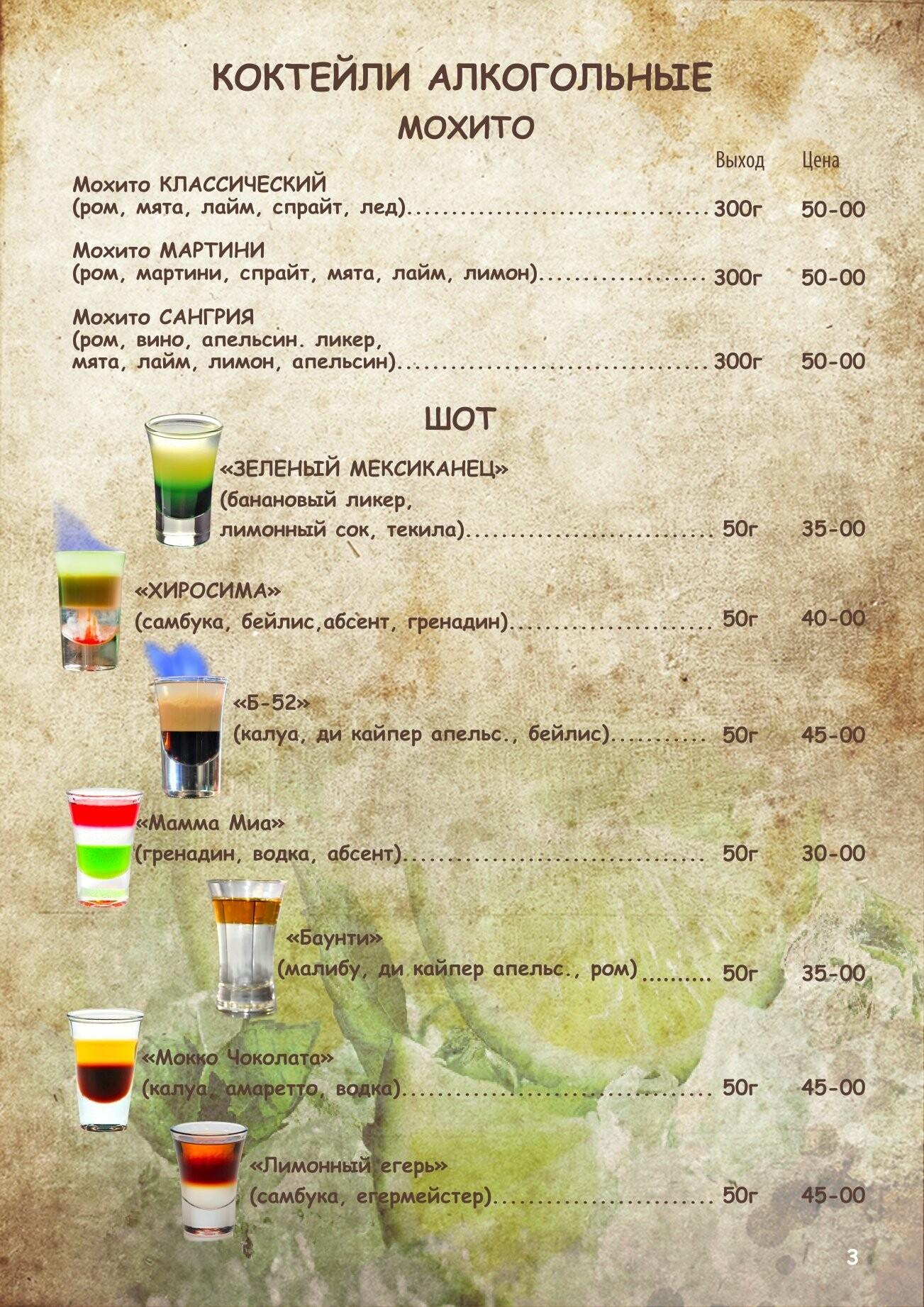 Алкогольное меню, фото-2