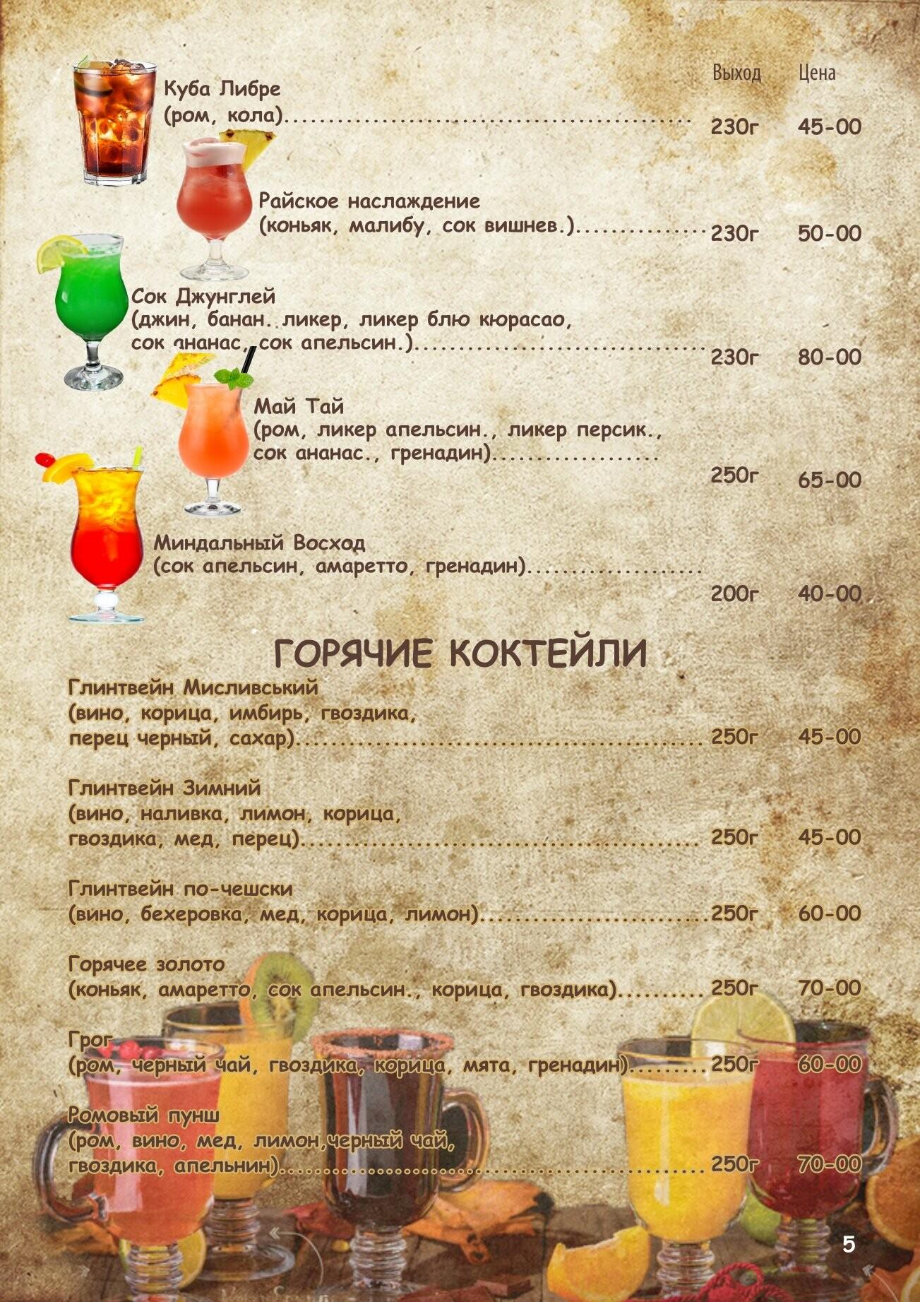 Алкогольное меню, фото-4