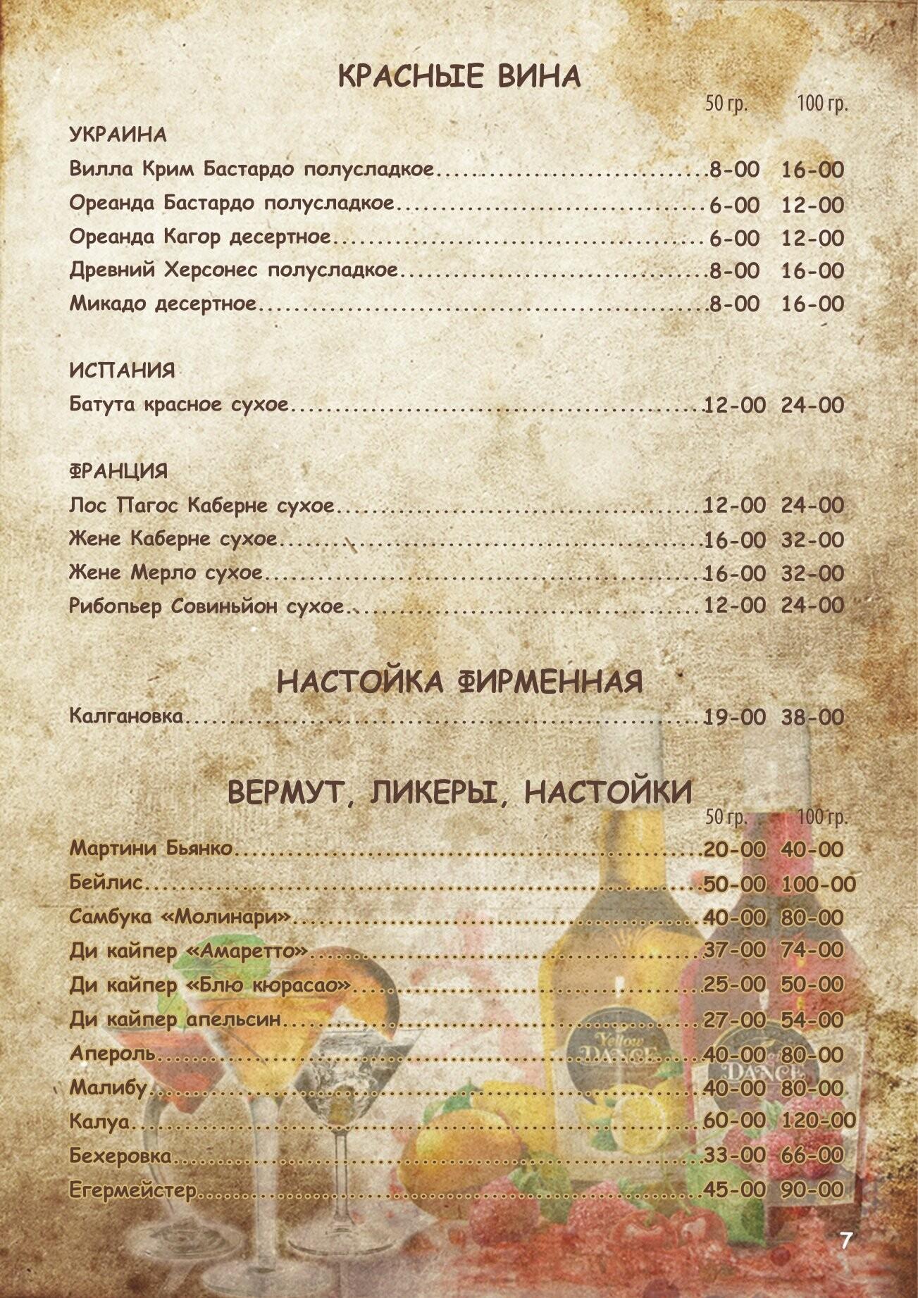 Алкогольное меню, фото-6