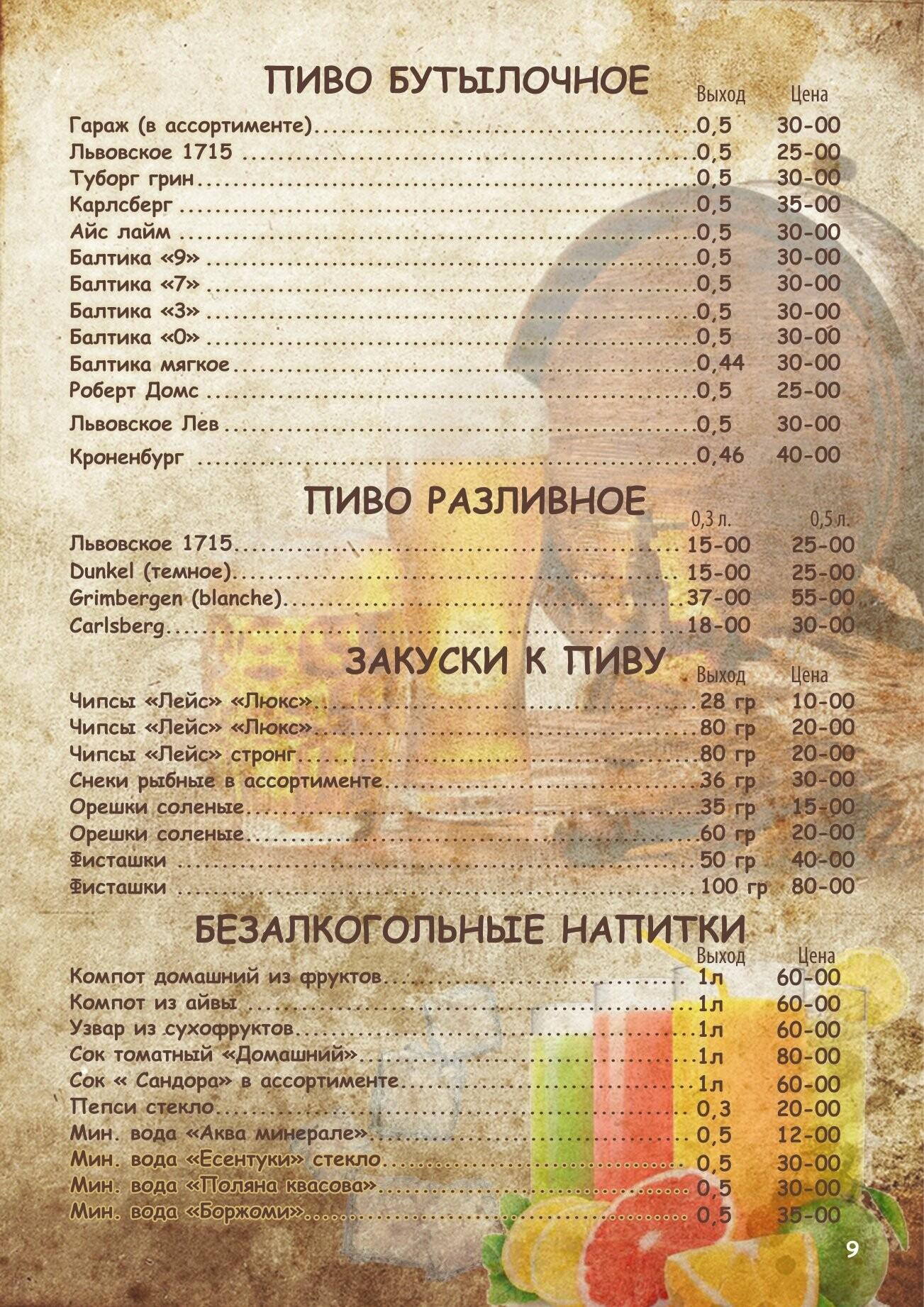 Алкогольное меню, фото-8