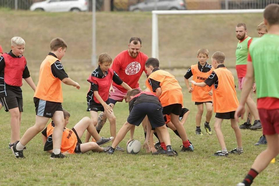 Профессиональные регбисты тренировали юных криворожан (ФОТО), фото-8